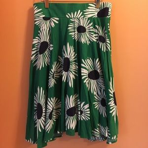 Anthropologie Knit Daisy Skirt Size M